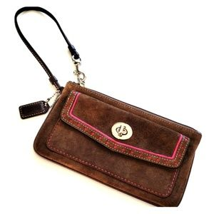 Coach Authentic Sweet Suede Wristlet